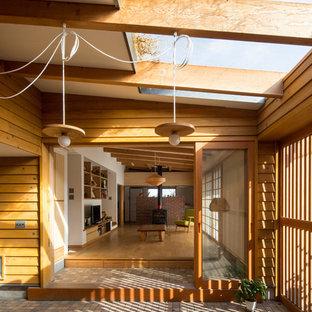 草屋根の家