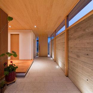 名古屋の和風のおしゃれな玄関の写真