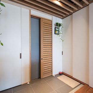 Hall d\'entrée avec une porte coulissante : Photos et idées déco de ...