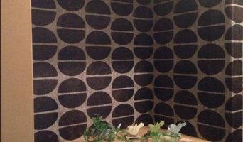 【DIY】玄関 コーヒー豆柄の壁紙で個性的な玄関☆