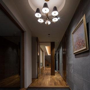 他の地域のミッドセンチュリースタイルのおしゃれな玄関の写真