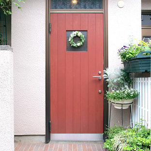 This is an example of a scandinavian porch design in Tokyo.