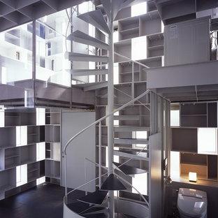 東京23区のコンテンポラリースタイルのおしゃれな階段の写真