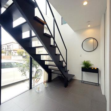 プライベートテラスとつながる大空間LDKの家