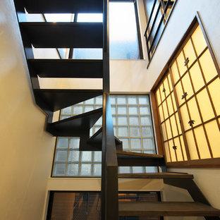 東京23区の和風のおしゃれな階段の写真