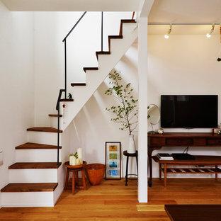 北欧スタイルのおしゃれな階段の写真