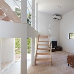 他の地域のコンテンポラリースタイルのおしゃれな階段の写真