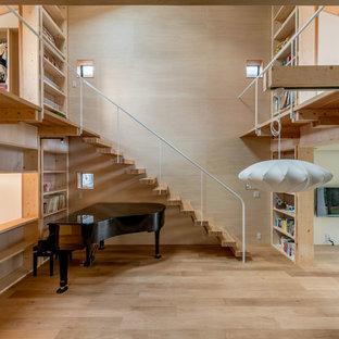 名古屋の和風のおしゃれな階段の写真