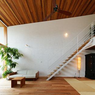 名古屋のコンテンポラリースタイルのおしゃれな階段の写真