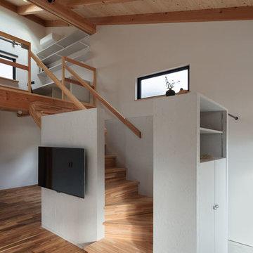 片屋根の家