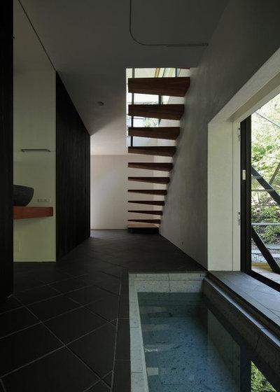 モダン 階段 by 石井秀樹建築設計事務所 Ishii Hideki Architect Atelier
