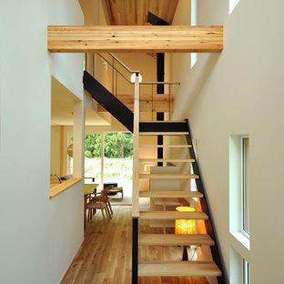 他の地域の北欧スタイルのおしゃれな階段の写真