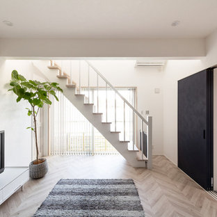 大阪の北欧スタイルのおしゃれな階段の写真