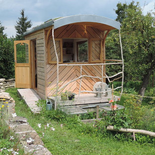 Small Mountain Style Detached Garden Shed Photo In Dijon