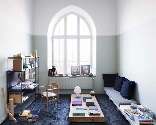 Skandinavische Wohnzimmer Mit Teppichboden Design Ideen Bilder