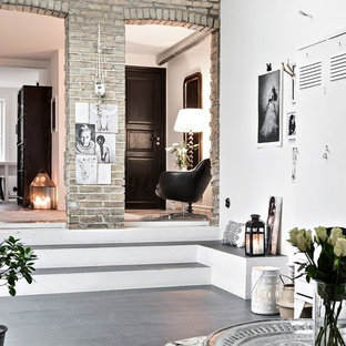 Example of a danish family room design in Malmo