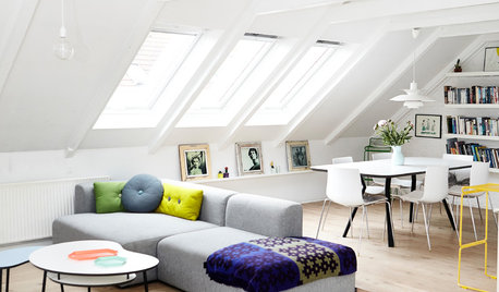 My Houzz: Spots of Happy Color Balance Swaths of White