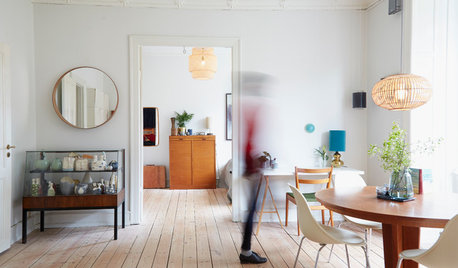 My Houzz: Colourful Art and Vintage Finds Transform a Simple Flat