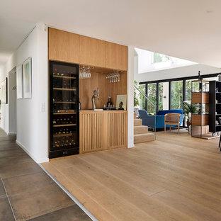 Photo of a scandinavian family room in Aarhus.
