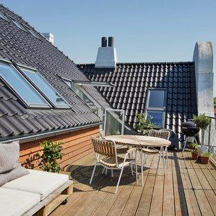 Modern balcony in Copenhagen.