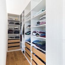 Dekcnhohe Garderobe In Weiß Skandinavisch Flur