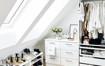 Espaces difficiles : Comment aménager un dressing sous les combles ?