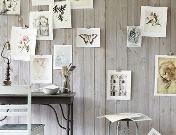 Arbeitsbereich mit Kunstdrucken