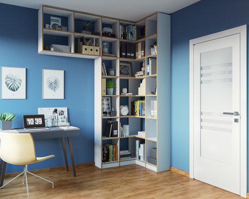 Arbeitszimmer mit h ngekamin ideen design bilder houzz for Arbeitszimmer wandfarbe
