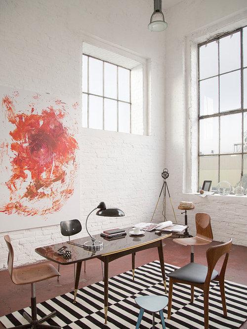 Arbeitszimmer mit betonboden ideen design bilder houzz - Wandfarbe arbeitszimmer ...
