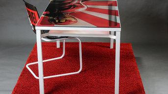 Comic Fan Art Tisch & Stuhl