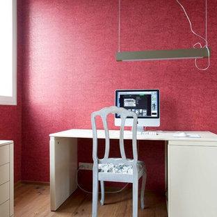 Foto på ett funkis arbetsrum