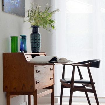 Das kleine Bureau: Diskreter Arbeitsplatz im Wohnzimmer