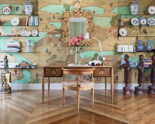 best asian home office design ideas remodel pictures houzz. Black Bedroom Furniture Sets. Home Design Ideas