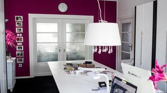 Glastüren können den Wohnbereich abtrennen