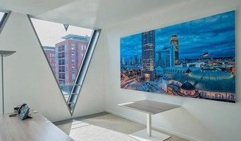 Grossformatige Akustikbilder in Büroräumen