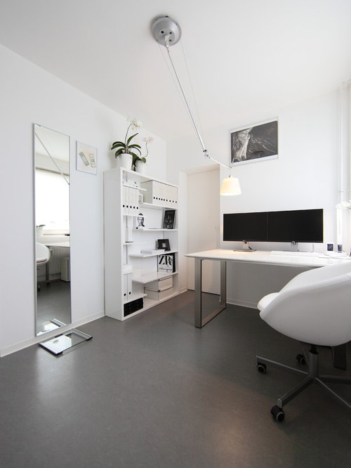 Arbeitszimmer design  Kleine Arbeitszimmer mit Linoleum Ideen, Design & Bilder | Houzz