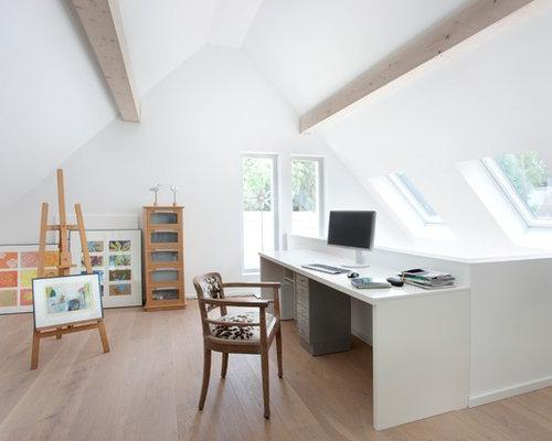 Très grand bureau scandinave : photos et idées déco de bureaux