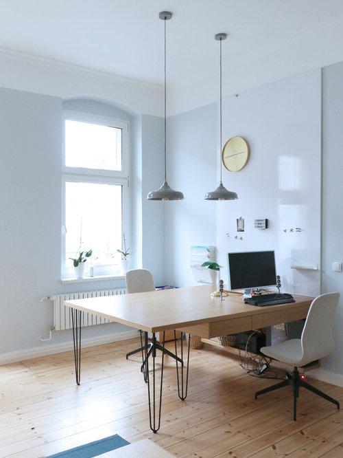 Arbeitszimmer mit blauer wandfarbe ideen design bilder for Arbeitszimmer wandfarbe