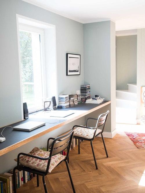 Arbeitszimmer design  Arbeitszimmer mit grauer Wandfarbe Ideen, Design & Bilder | Houzz