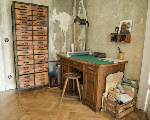 Industrial arbeitszimmer ideen f r ihr home office design - Wandfarbe arbeitszimmer ...