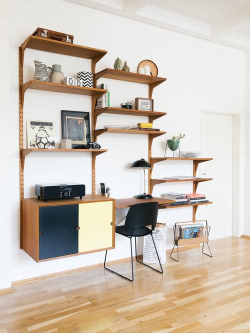 Mid century arbeitszimmer ideen design bilder houzz - Wandfarbe arbeitszimmer ...