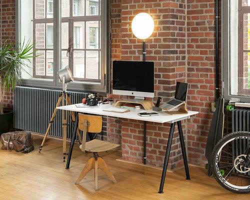 industrial arbeitszimmer ideen design bilder houzz. Black Bedroom Furniture Sets. Home Design Ideas