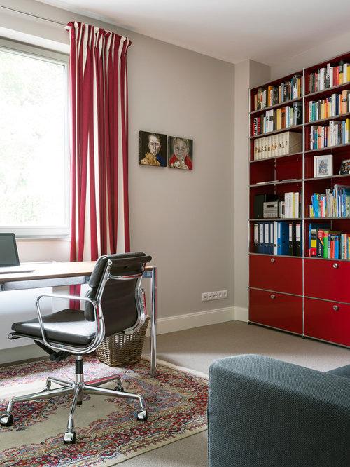 Arbeitszimmer mit teppichboden ideen design bilder houzz - Arbeitszimmer wandfarbe ...
