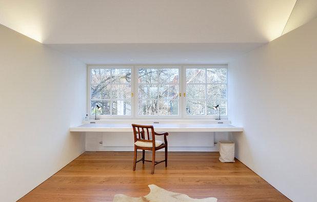 Contemporain Bureau à domicile by Möhring Architekten