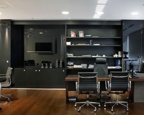 Modernes arbeitszimmer  Arbeitszimmer Mit Braunem Ledersofa: Beispiel f?r kleines modernes ...