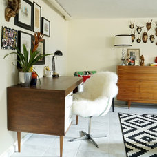 Eclectic Home Office by Maggie Overby Studios