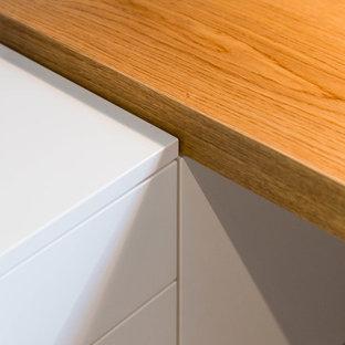 Неиссякаемый источник вдохновения для домашнего уюта: рабочее место в современном стиле с встроенным рабочим столом