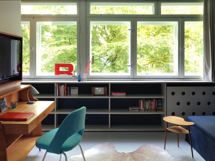 Midcentury Home Office by a-base architekten / innenarchitekten