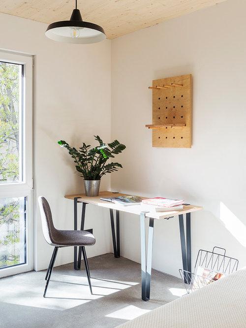 Industrial arbeitszimmer ideen design bilder houzz - Arbeitszimmer wandfarbe ...