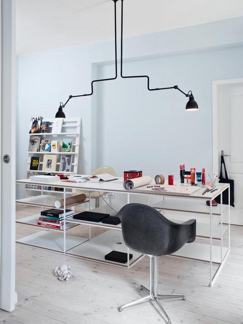 Foto e idee per studi studio moderno con pareti blu for Ufficio wall street